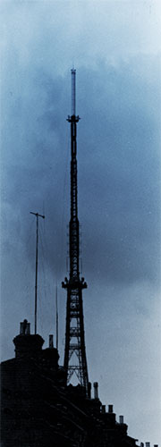 Starpoint-FM's aerial dwarfed by the Crystal Palace broadcast mast